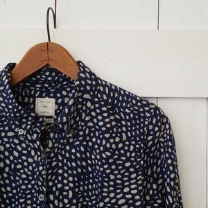 GAP | navy blue tailored shirt